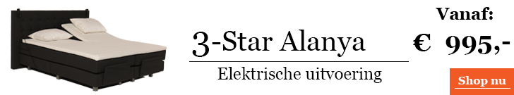 Boxspringcombinatie 3-Star Alanya Elektrische Uitvoering