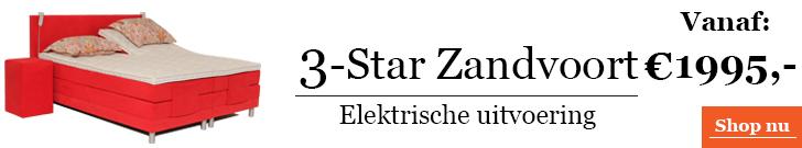 Boxspringcombinatie 3-Star Zandvoort Elektrische Uitvoering